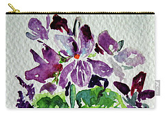 Carry-all Pouch featuring the painting Violet by Kovacs Anna Brigitta