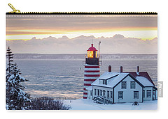Carry-all Pouch featuring the photograph West Quoddy Lighthouse by Trace Kittrell