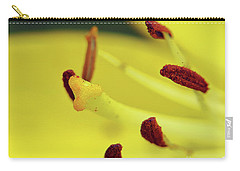 Carry-all Pouch featuring the photograph Yellow Lily by Elvira Ladocki