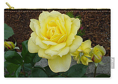 4 Yellow Roses Carry-all Pouch by Shirley Heyn