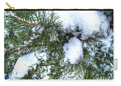 Carry-all Pouch featuring the pyrography Yury Bashkin Winter Russia by Yury Bashkin