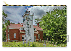 Carry-all Pouch featuring the photograph 40 Mile Point Lighthouse by Bill Gallagher