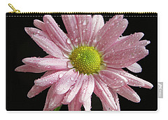 Pink Flower Carry-all Pouch by Elvira Ladocki