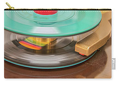 45 Rpm Record In Play Mode Carry-all Pouch