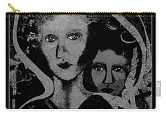 Carry-all Pouch featuring the digital art 450 - Get Off My Back 2017 by Irmgard Schoendorf Welch
