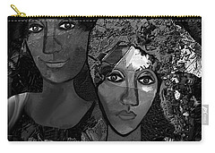 Carry-all Pouch featuring the digital art 452 - Secrets Of Friendship by Irmgard Schoendorf Welch