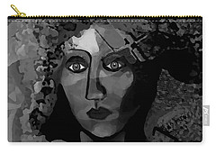 Carry-all Pouch featuring the digital art 455 - Dark Dreamer by Irmgard Schoendorf Welch