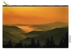 Allegheny Mountain Sunrise Carry-all Pouch by Thomas R Fletcher