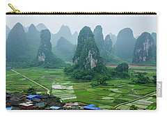 The Beautiful Karst Rural Scenery In Spring Carry-all Pouch