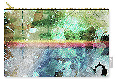 4b Abstract Expressionism Digital Collage Art Carry-all Pouch