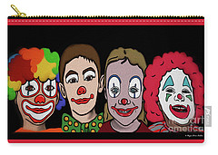 4happy Clowns Carry-all Pouch by Megan Dirsa-DuBois
