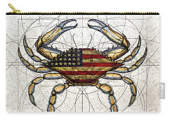 4th Of July Crab Carry-all Pouch by Charles Harden