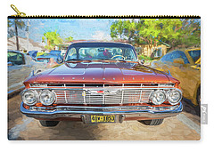 Carry-all Pouch featuring the photograph 1961 Chevrolet Impala Ss  by Rich Franco