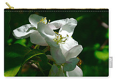 Carry-all Pouch featuring the photograph Apple Blossoms by Johanna Bruwer