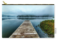 Autumn Mist On Lake Carry-all Pouch by Thomas R Fletcher
