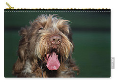 Brown Roan Italian Spinone Dog Head Shot Carry-all Pouch