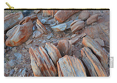 Carry-all Pouch featuring the photograph Colorful Cove In Valley Of Fire by Ray Mathis