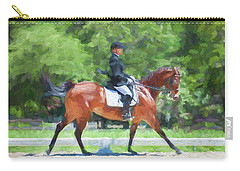 Equestrian Event Rocking Horse Stables Painted  Carry-all Pouch