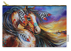 5 Feathers Indian War Horse Carry-all Pouch