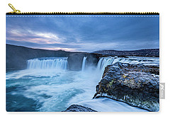 Godafoss Waterfall In Iceland Carry-all Pouch by Joe Belanger