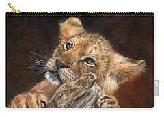 Lion Cub Carry-all Pouch by David Stribbling