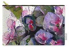 Carry-all Pouch featuring the painting My Annual Begonias by Kris Parins