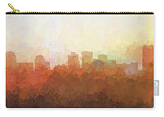 Carry-all Pouch featuring the digital art Norfolk Virginia Skyline by Marlene Watson