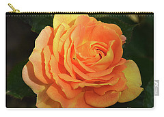 Carry-all Pouch featuring the photograph Orange Rose by Elvira Ladocki