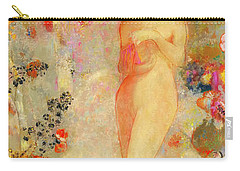 Carry-all Pouch featuring the painting Pandora by Odilon Redon