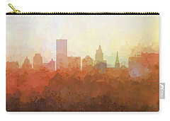 Carry-all Pouch featuring the digital art Providence Rhode Island Skyline by Marlene Watson
