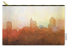 Carry-all Pouch featuring the digital art Raleigh North Carolina Skyline by Marlene Watson