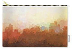 Carry-all Pouch featuring the digital art Reno Nevada Skyline by Marlene Watson