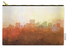 Carry-all Pouch featuring the digital art Richmond Virginia Skyline by Marlene Watson