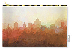 Carry-all Pouch featuring the digital art Salt Lake City Utah Skyline by Marlene Watson