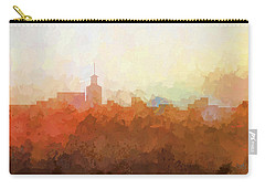 Carry-all Pouch featuring the digital art Santa Fe New Mexico Skyline by Marlene Watson