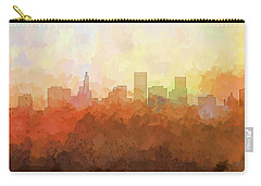Carry-all Pouch featuring the digital art St Paul Minnesota Skyline by Marlene Watson