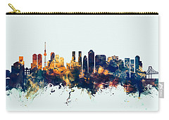Tokyo Japan Skyline Carry-all Pouch by Michael Tompsett