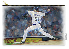 Carry-all Pouch featuring the photograph Trevor Hoffman by Don Olea