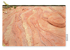 Carry-all Pouch featuring the photograph Wave Of Color In Valley Of Fire by Ray Mathis