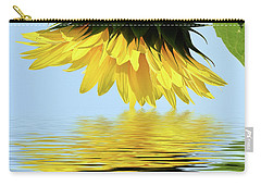 Nice Sunflower Carry-all Pouch by Elvira Ladocki