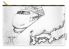 5.1.japan-map-of-country-with-bullet-train Carry-all Pouch