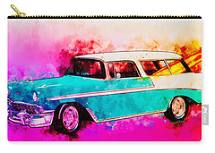 56 Chevy Nomad By The Sea In The Morning With Vivachas Carry-all Pouch