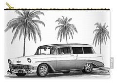 56 Chevy Wagon Carry-all Pouch by Peter Piatt