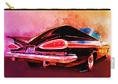 59 Chevy Ticket To Ride Watercolour Carry-all Pouch