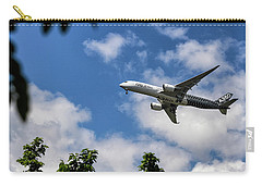 Carry-all Pouch featuring the photograph Airbus A350 by Shirley Mitchell