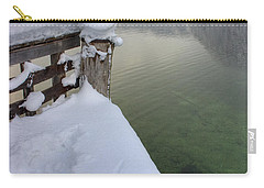 Carry-all Pouch featuring the photograph Alpine Winter Reflections by Ian Middleton