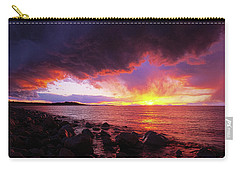 Carry-all Pouch featuring the photograph Antelope Island Sunset by Norman Hall