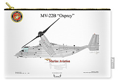 Carry-all Pouch featuring the digital art Bell Boeing Mv-22b Osprey by Arthur Eggers