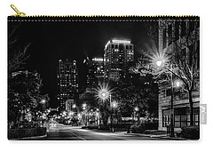 Carry-all Pouch featuring the photograph Birmingham Alabama Evening Skyline by Alex Grichenko