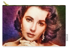Elizabeth Taylor, Vintage Hollywood Legend Carry-all Pouch by John Springfield